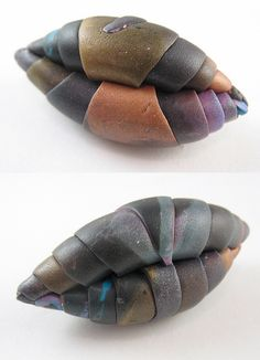 5b Smooth the chrysalis | Flickr - Photo Sharing!  At this point, if you like the colors and shape, you're finished. I sometimes brush a little bit of dark Pearlex powder into the fold creases to add more depth before baking.   Bake, sand and polish in your usual manner.