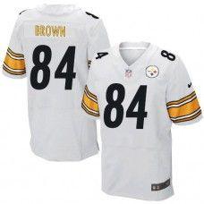 NFL Mens Elite Nike  Pittsburgh Steelers #84 Antonio Brown White Jersey$129.99