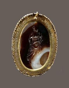 Agate intaglio with Madonna and Child in gold mount given by King Ladislaus IV Vasa to Chancellor Jerzy Ossoliński by Anonymous from Italy, turn of the and century (intaglio) and (frame), National Museum in Warsaw. Madonna And Child, Warsaw, National Museum, 17th Century, Anonymous, Agate, Rings For Men, Italy, King