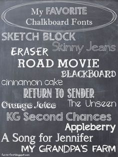 Favorite Chalkboard Fonts