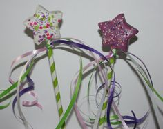Princess wand cake pops by bitesizedelights on Etsy, $26.50