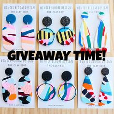 It's GIVEAWAY TIME! To say thanks for all your love and support this year I'm giving away 6 pairs of CLAY EDIT DANGLES to one lucky lady or lad. It's super easy to enter, just follow these simple steps. NOW CLOSED 1. Like this post 2. Tag a friend in the comments 3. Follow @winterbloomdesign Easy as🙌 remember the more you enter the more chance you have of winning! That's pretty much all your Christmas shopping done for your girlfriends, right? Or yourself😂 Valued at over $220. GIVEAWAY…