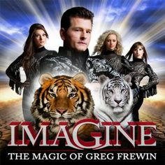 "World-class magician Greg Frewin performs unbelievable magic acts and illusions at the Greg Frewin Theatre in Niagara Falls, ON. The show features tigers, colorful birds, beautiful showgirls, and ""International Grand Champion of Magic"" Greg Frewin. Niagara Falls Attractions, Clifton Hill, Magic Illusions, Dinner Theatre, Magic Show, Arts Award, Colorful Birds, Best Vacations, The Magicians"