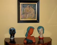 Some of our art deco Goldscheider busts