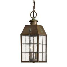 Hinkley Lighting Nantucket Pendant in Aged Brass