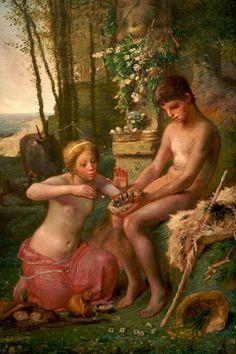 ジャン=フランソワ・ミレー フランス 1814年 - 1875年 Spring (Daphnis and Chloe) 1865