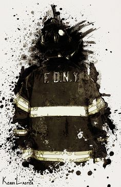 In Honor of the 343 - A: This is a collection of digital paintings created to honor the 343 firefighters that died during Part two of a series. Firefighter Bedroom, Firefighter Apparel, Firefighter Paramedic, Volunteer Firefighter, Fire Dept, Fire Department, Fire Trucks, Cool Art, Digital Paintings