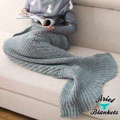 Mermaid Blanket (Grey) – Ariel Blankets