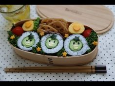 How to make Sushi Bento Cucumber Roll ,Cute Kappa (かわいい カッパ巻き)キャラ弁