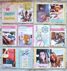 project life, scrapbooking page