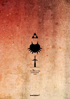 Great design, Minimalist Zelda video game posters according to their platform
