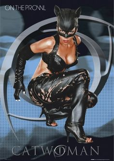 Cat Woman Cosplay Halle Berry as slinky Cat Woman - the movie poster Catwoman Cosplay, Batman Und Catwoman, Catwoman 2004, Batgirl, Catwoman Halle Berry, Dc Comics, Comics Girls, Comic Books Art, Comic Art