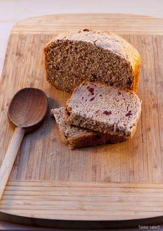 recette bio : pain complet aux cranberries