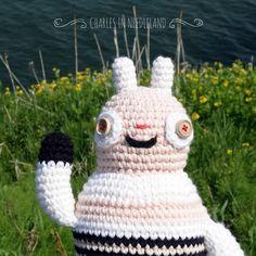 Cute Handmade Crochet BUNNY P by CharlesinNeedleland on Etsy
