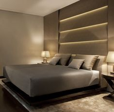 Armani Hotel Milano - Room & Suite Accommodation, Deluxe guestroom, on floors exclusive bedroom furniture & stone bathroom with Armani amenties Armani Hotel, Contemporary Bedroom, Modern Bedroom, Contemporary Furniture, Home Bedroom, Bedroom Decor, Bedroom Sets, Bedroom Furniture, Interior Architecture