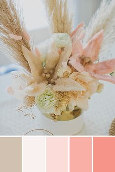 Welcome To Afloral, Your Floral Decorating Company Flowers For You, Fake Flowers, Artificial Flowers, Colorful Flowers, Dried Flowers, Beige Color Palette, Color Schemes Colour Palettes, Colour Pallete, Colour Combinations