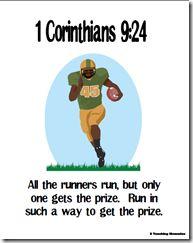 Memory Verse Helps-1 Corinthians 9:24
