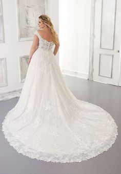 Plus Size Wedding Dresses: Julietta Collection | Morilee Stunning Wedding Dresses, Wedding Dresses Photos, Bridal Wedding Dresses, Dream Wedding Dresses, Designer Wedding Dresses, Plus Size Wedding Gowns, A Line Gown, Dress Picture, Embroidered Lace