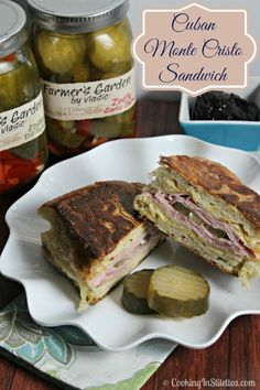 Who doesn't love a Cuban Sandwich right? I've taken the familiar flavors of this South Florida staple and turned the flavors up a notch going Monte Cristo style. Sweet, savory and oh so delicious! | Cooking In Stilettos