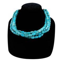 Rocki Gorman Multi Strand Turquoise Necklace