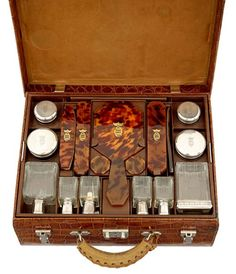 # Karen Blixen's Crocodile Hermes Suitcases (Photos) - Luxist