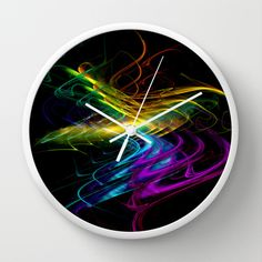Abstract Wall Clock by Christine baessler - $30.00