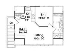 Second Floor Plan of House Plan 49036
