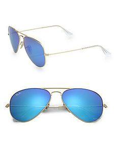 03b360fd5e Ray-Ban Classic Aviator Sunglasses RonitStylist Mirrored Aviator  Sunglasses, Sunglasses Outlet, Oakley Sunglasses