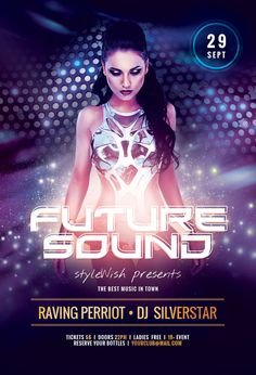 Future Sound Party Flyer Template by styleWish (Download PSD file)