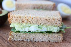 Avocado Egg Salad Sandwich on www.twopeasandtheirpod.com