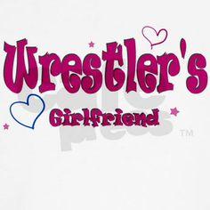 Wrestler's Girlfriend Fitted Hoodie on CafePress.com