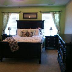 Black & green bedroom