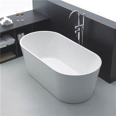 Badekar Bathlife Ideal Frittstående Rundt Hvit - Badekar - Baderom