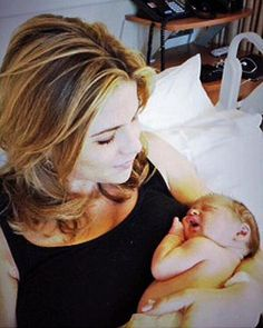 Jenna Bush-Hager cradled her newborn daughter, Mila.