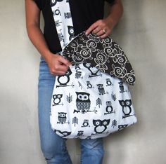 ON SALE Cross Body Bag. Retired Fabrics. Large by SmiLeStyles, $44.00