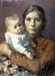 Mother And Child, Gari Melchers