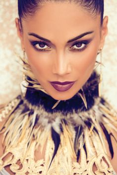 Nicole Scherzinger by Gomillion & Leupold - would love tone able to pull this off... Even the collar/dress