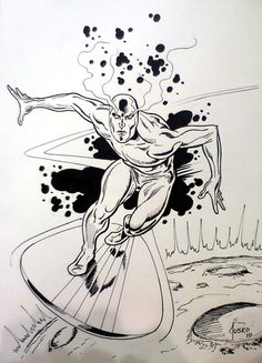 Silver Surfer Con Drawning