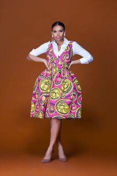 Shop Grass-fields African Print Senegal Midi Dress - Look effortlessly cool wearing the African Print Senegal Midi Dress, in stunning Colourful African print. It's bold and beautiful, perfect for any social occasion! African Print Dresses, African Print Fashion, African Fashion Dresses, African Attire, African Wear, African Women, African Dress, African Prints, African Style