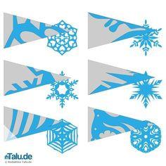 Schneeflocken aus Papier basteln Sie kinderleicht mit der Scherenschnitt-Technik. Wir haben Vorlagen und Tipps hier in dieser Anleitung zusammengestellt.