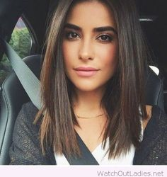 Beautiful shoulder length haircut