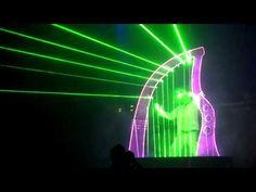 Laser harp performance - YouTube
