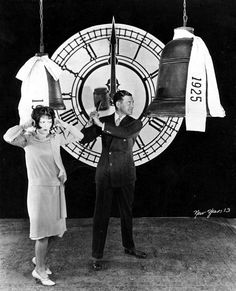 Clara Bow and Richard Dix ring in the New Year of 1925