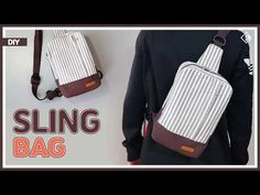 DIY/ SLING BAG/ WAIST BAG/ FANNY PACK/ BUM BAG/ 어깨에 메는 슬링백 만들기/ 웨이스트백 만들기/sewing/ tutorial/ - YouTube Small Sewing Projects, Sewing Hacks, Sewing Tutorials, Sewing Patterns, Backpack Purse, Sling Backpack, Diy Purse, Purses And Bags, Couture