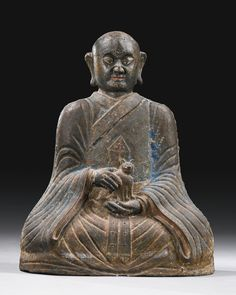 A CAST-IRON FIGURE OF PINDOLA, DATED 23RD YEAR OF THE REIGN OF CHENGHUA, CORRESPONDING TO 1487 | Lot | Sotheby's