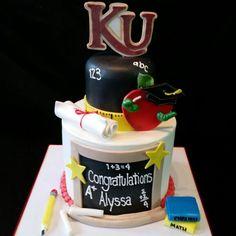 Kutztown University Graduation cake from Piece 'a Cake College Graduation Cakes, Kutztown University, Tasty, Yummy Food, Diy Hacks, Cake Cookies, Food Videos, Congratulations, Tableware