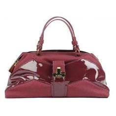CHB499 - Chandler Purse Handbag - Cranberry by Mischa Barton    COMPLETELY SOLD OUT EVERYWHERE BUT I HAPPEN TO HAVE A FEW HELD BACK - FOR PROOF CHECK OUT https://www.lyst.com/shop/mischa-barton-totes/      	Mischa Barton Chandler Bowler Bag / Grab Bag / Handbag  	Brand New and With Tags  	Mischa Barton Chandler bowler bag with patent panel detailing and a pocket at the front. Zip opening to the top of the bag with a zipped inside pocket, mobile phone pouch and key fob.  	Length 38cm, Height…