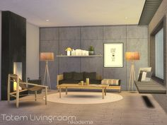 I wanted to create something very relaxing, with neutral, natural colors.  Found in TSR Category 'Sims 4 Living Room Sets'