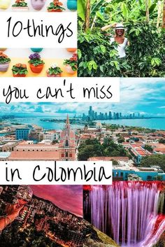 10 things you cant miss in Colombia! Traveling to Colombia is an adventure of a lifetime. Colombia has it all and is one of the most diverse co Columbia South America, South America Travel, North America, Amazing Destinations, Travel Destinations, Travel Tips, Travel Hacks, Ecuador, Cali