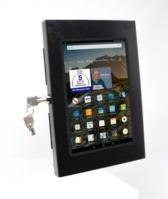 Amazon Fire HD 8 Security Wall Mount Metal Enclosure VESA Ready – TABCARE Tablet Mount, Point Of Sale, Profile Design, Wall Mount, Fire, Amazon, Metal, Point Of Purchase, Wall Installation